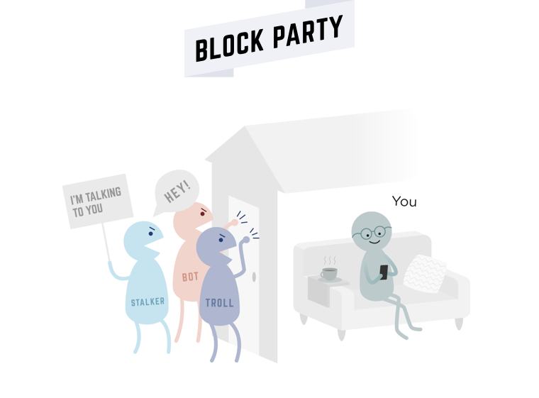 Knocking at the door illustration